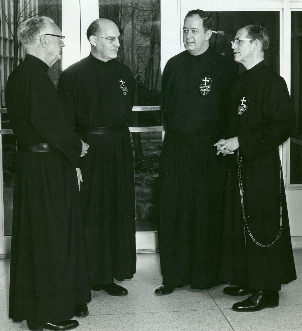 4 Novice Masters L-R Passionist Fathers: Berchmans Lanagan; Augustine Paul Hennessy; Aquinas McGurk; Gregory Flynn