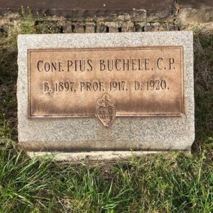 New 1918 Pandemic Documentation: Passionist seminarian Pius Buchele, C.P. (1897-1920) dies in Scranton, PA and is buried in Pittsburgh, PA.