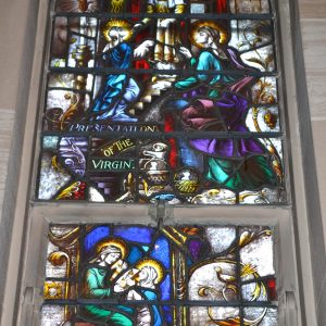 St. Joseph's Monastery Church, Baltimore, Maryland   and the Stained Glass Window of the Immaculate Conception